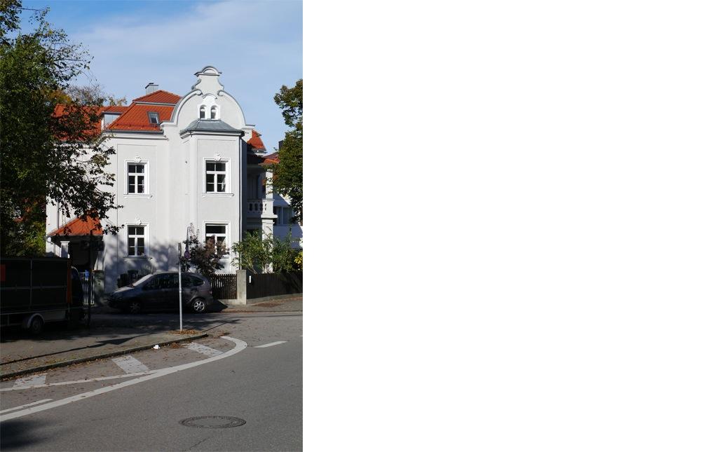 kern & toth - Ihr Architekturbüro im Hochschloß Seefeld - Straßenansicht Umbau und Sanierung einer denkmalgeschützten Villa am Wensauerplatz in der Villenkolonie München Pasing