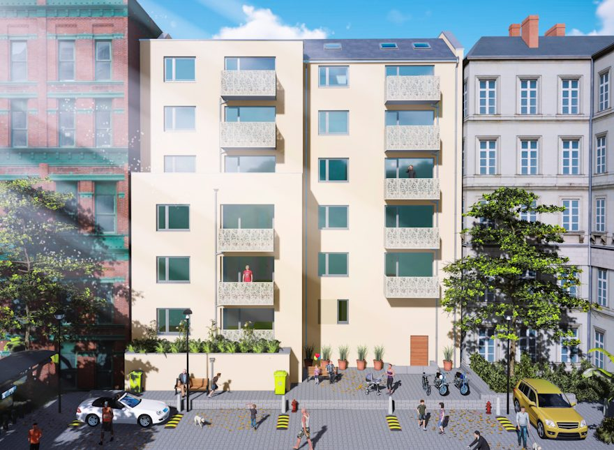 Neubau eines Mehrfamilienhauses in Leipzig