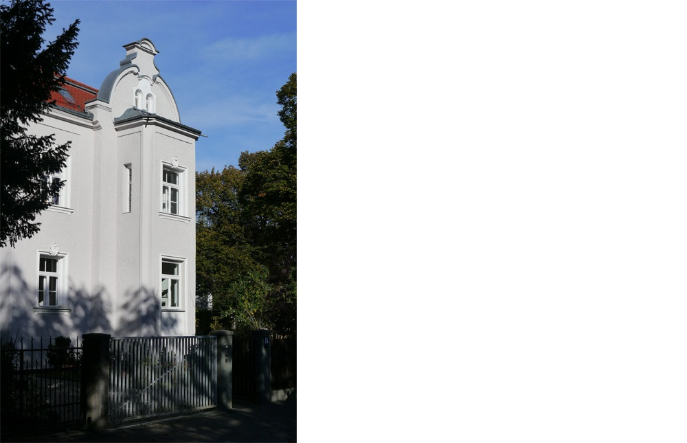 kern & toth - Ihre Architekten aus Seefeld / Oberalting am Pilsensee - Fassadendetail Umbau und Sanierung einer denkmalgeschützten Villa am Wensauerplatz in der Villenkolonie München Pasing