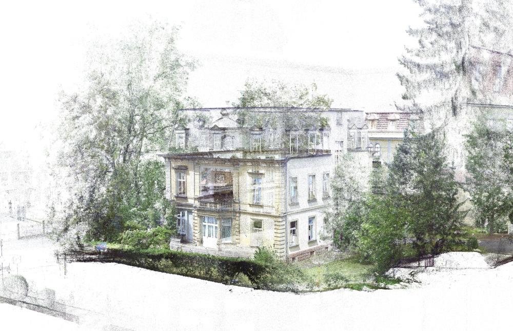 Kern & Toth, Laserscan der Fassaden der Villa Quisisana in der Prinzregentenstraße in Bad Kissingen<br />Laserscanner Faro Focus